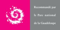 """Le logo """"Recommandé par le Parc National de Guadeloupe""""."""