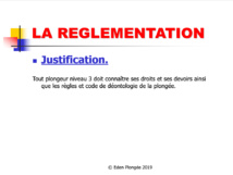 Réglementation plongeur niveau 3 FFESSM