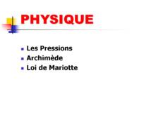 Physique Niveau 2