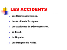 Accidents Niveau 2