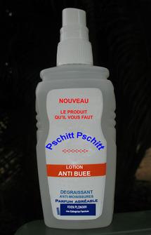 La lotion anti-buée d'Eden Plongée.