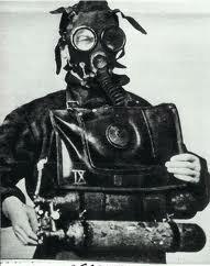 Plongeur de combat pendant la deuxième guerre mondiale.