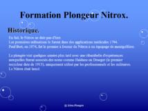 Formation Nitrox.