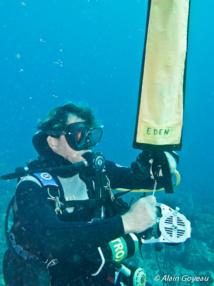 Mise en oeuvre du parachute de palier sur dévidoir en grande profondeur.