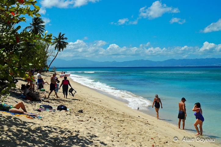 La Plage du Souffleur à Port Louis, l'une des plus belles plages de Guadeloupe.
