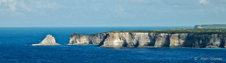 Les falaises de la Grande Vigie en Guadeloupe, un paysage époustouflant.