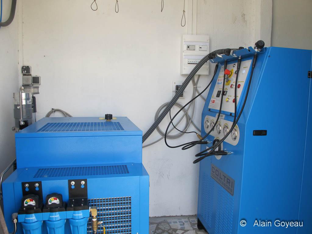 Fabrication de Nitrox à l'aide d'un compresseur.