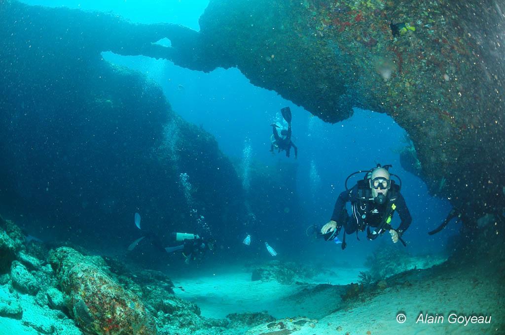 La plupart des sites de plongée à Port Louis en Guadeloupe sont accessibles à tous les niveaux.